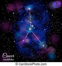 Cancer Constellation With Triangular Background. - True star...