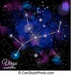 Virgo Constellation With Triangular Background. - True star...
