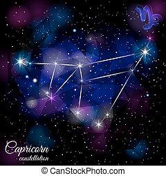 Capricorn Constellation With Triangular Background. - True...
