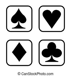 Playing card  isolated on white background.