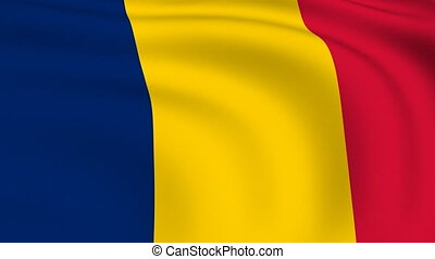 Flying Flag of Chad | LOOPED |