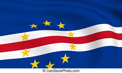 Flying Flag of Cape Verde | LOOPED |