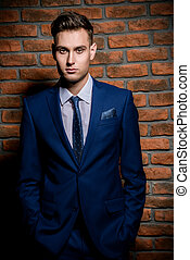 respectable handsome man - Fashion shot of a handsome young...