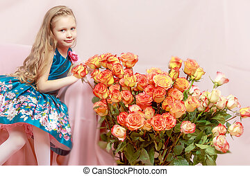 Beautiful little girl 5-6 years. - A beautiful little girl...