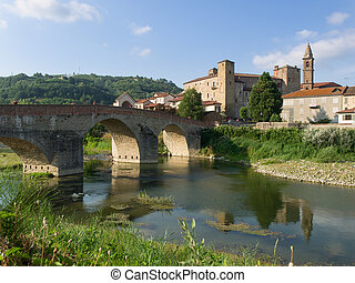 Monastero Bormida Medieval village with castle, church and...