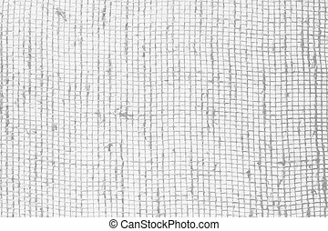 Burlap black and white texture - Burlap fabric background....