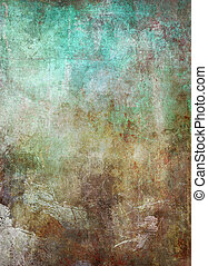 old patina metal grunge background - old weathered patina...