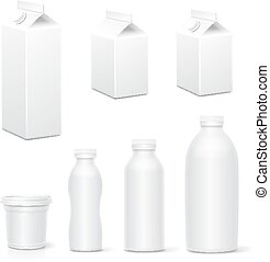 Milk and juice white carton package boxes