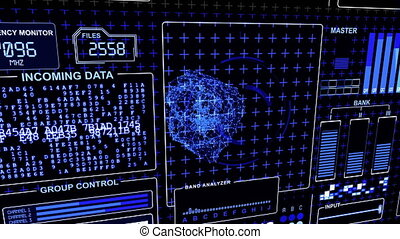 Futuristic Technology Interface Computer Data Screen
