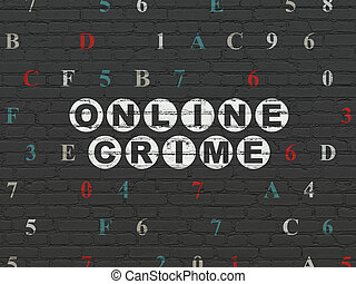 Security concept: Online Crime on wall background - Security...