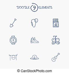 Set Of 9 Editable Travel Icons. Includes Symbols Such As...
