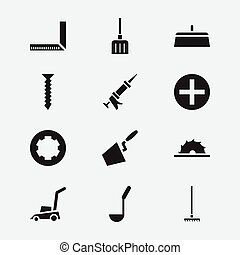 Set Of 12 Editable Instrument Icons. Includes Symbols Such...