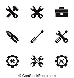 Set Of 9 Editable Mechanic Icons. Includes Symbols Such As...