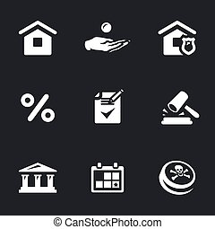 Vector Set of Mortgage Icons. - House, loan, mortgage,...
