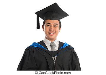 University student graduation portrait