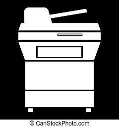 Multifunction printer or automatic copier icon .