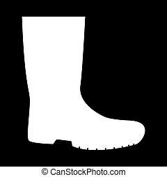 Rubber boots icon .