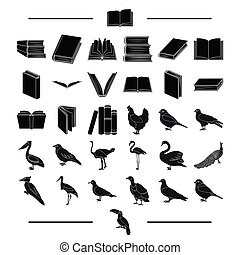 institute, school, training and other web icon in black...