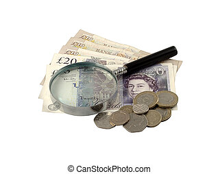 Sterling under Scrutiny - 20, 10, 2, 1, 50p, 20p, 5p with...