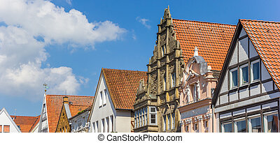 Panorama of facades at the central market square of...