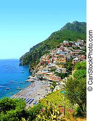 View on Positano, Campania region, Italy - View on Positano...