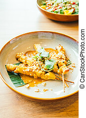Chicken satay - Grilled chicken meat satay with sweet sauce...