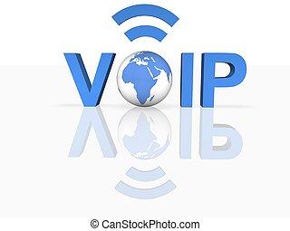 voz, encima, IP
