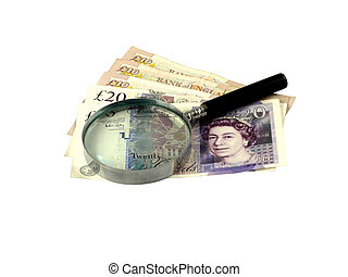 Taking a Close Look at British Currency - Twenty and Yen...