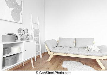 Simple room for kid - Bright simple room in Scandinavian...