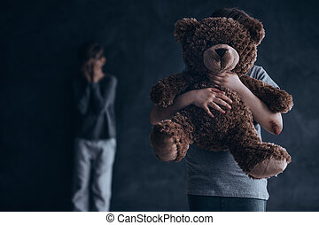 Traumatic and painful childhood - Conceptual photo of...