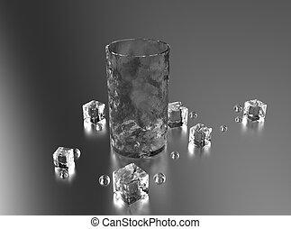 vidrio, hielo