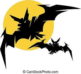 vampire bat silhouettes