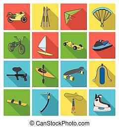 Motorcycle racing, downhill skiing, jumping, parachuting and...