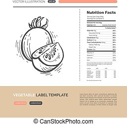 Vegetables label concept