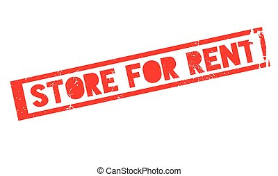 Store For Rent rubber stamp. Grunge design with dust...