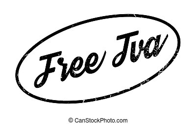 Free Tva rubber stamp. Grunge design with dust scratches....
