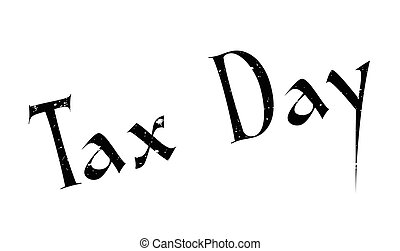 Tax Day rubber stamp