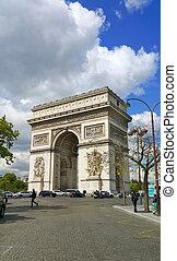 Arc de Triomphe, Paris, France - Arc de Triomphe, historic...