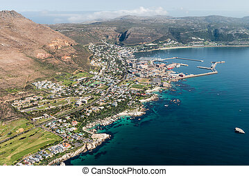 Aerial view of Simonstown (South Africa)
