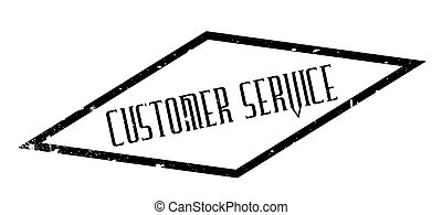 Customer Service rubber stamp. Grunge design with dust...