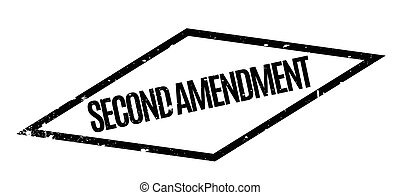 Second Amendment rubber stamp. Grunge design with dust...