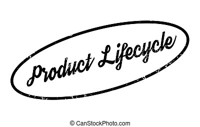 Product Lifecycle rubber stamp. Grunge design with dust...