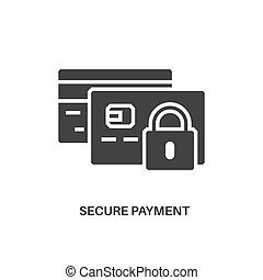 secure payment icon - Secure payment. Internet security...