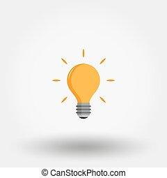 Light bulb. Idea.