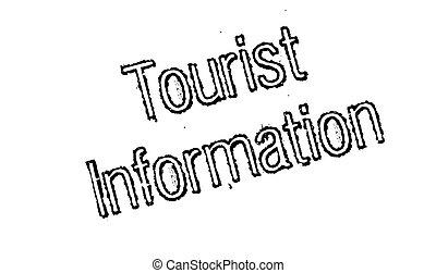 Tourist Information rubber stamp. Grunge design with dust...