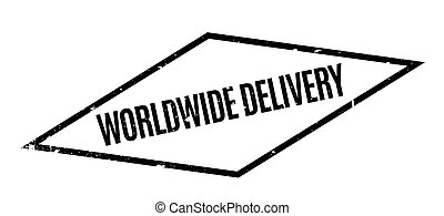 Worldwide Delivery rubber stamp
