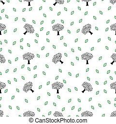 Seamless seasonal nature vector pattern image illustration...