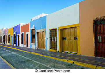 Colorful Houses on a Street