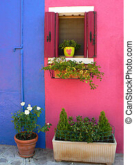 Colorful houses in Burano island, Venice, Italy