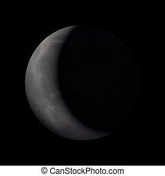Crescent Moon Illustration - Crescent moon - artistic vector...